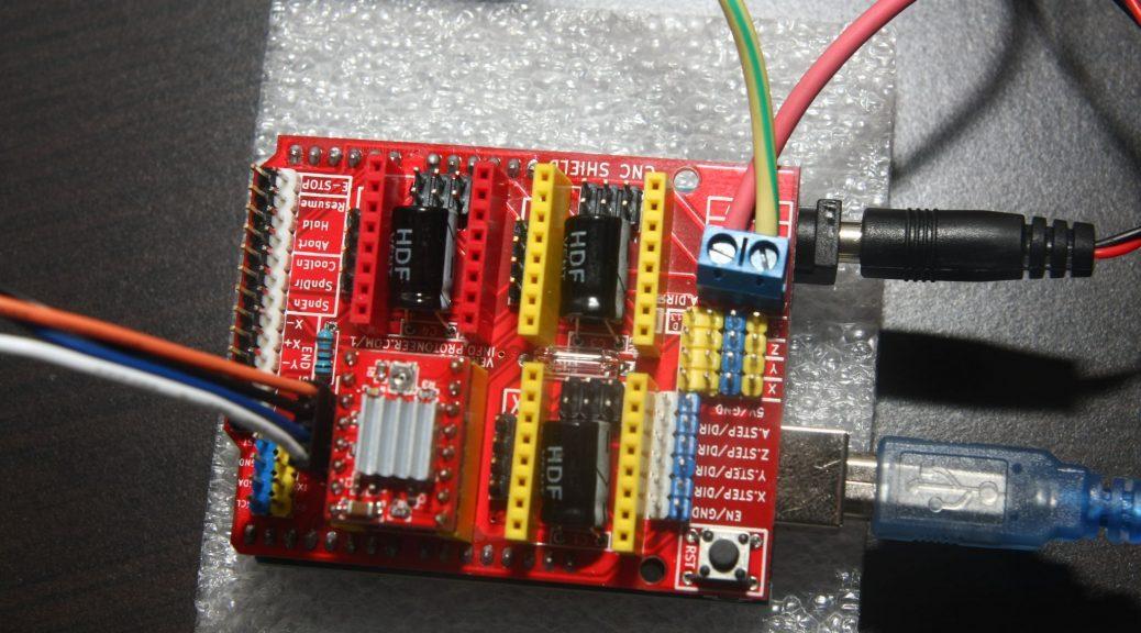 Cnc frézka elektro test kolem domečku